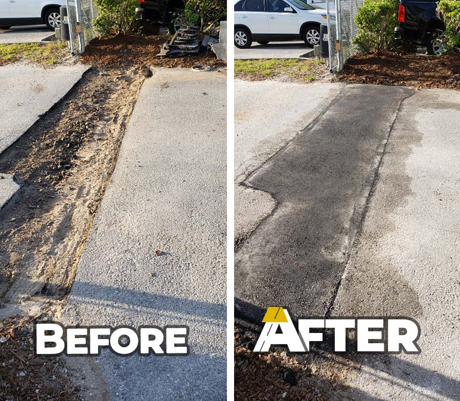 How our asphalt repair process works