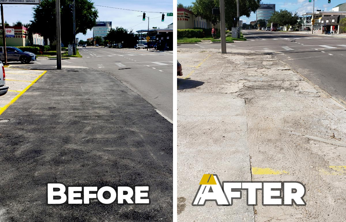 Before and after: Victory Auto Paving Job