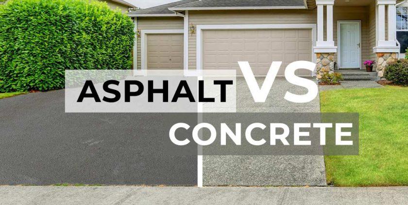 Asphalt vs concrete paving