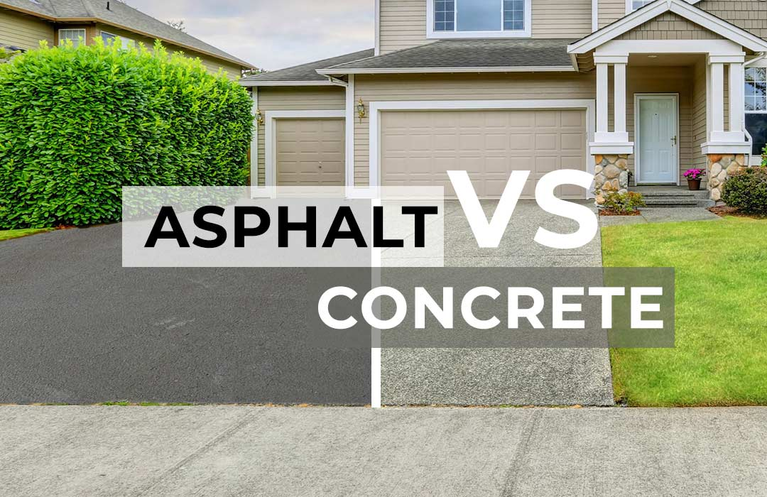 Asphalt vs concrete paving