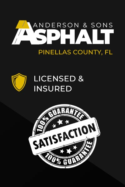 Anderson and Sons Asphalt Licensed and Insured Pinellas County
