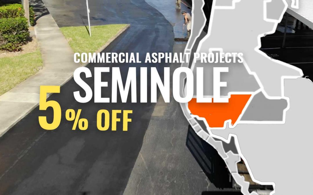 Parking Lot & Commercial Asphalt Discount for Seminole Fl