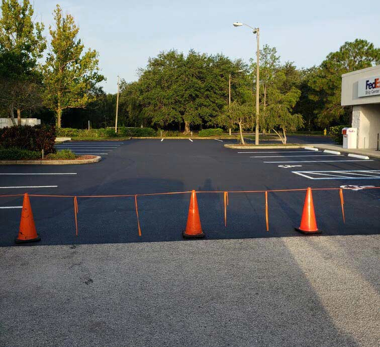 Pinellas Park Parking Lot Line Striping