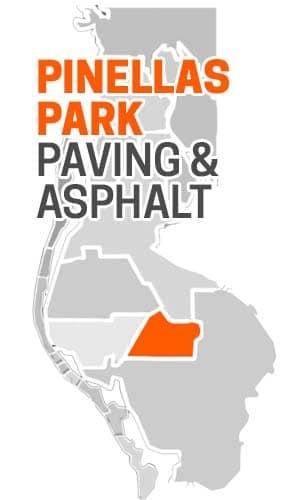 Pinellas Park, FL Asphalt Paving Company Map