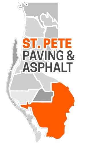 St. Pete FL Asphalt Paving Company Map