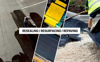 Costs and Differences of Asphalt Parking Lot Resealing, Resurfacing and Repaving