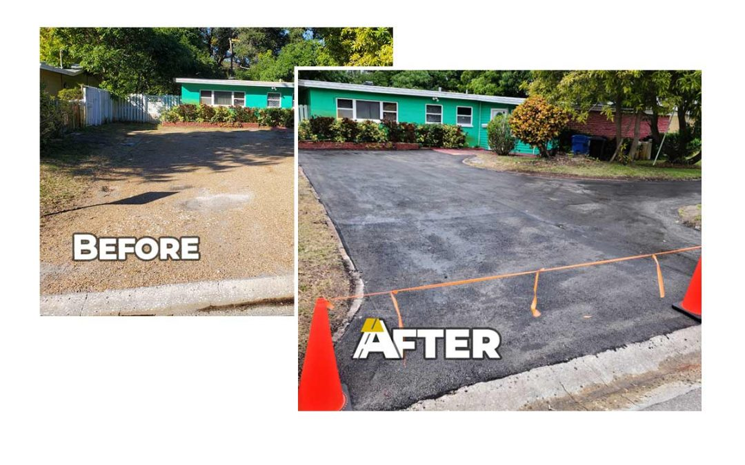 Recent Driveway Paving Project in Pinellas