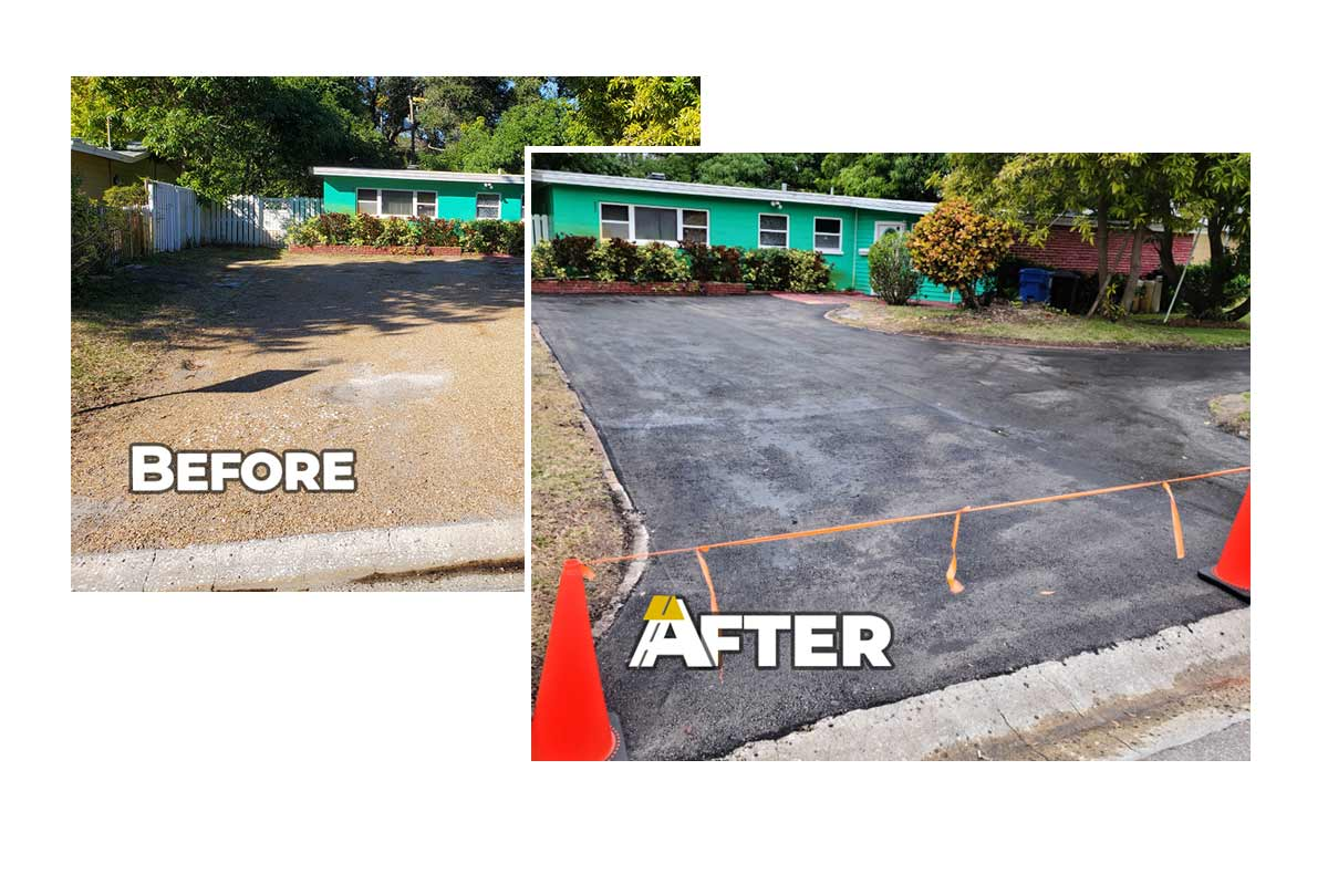 Recent Driveway Paving Job in Pinellas