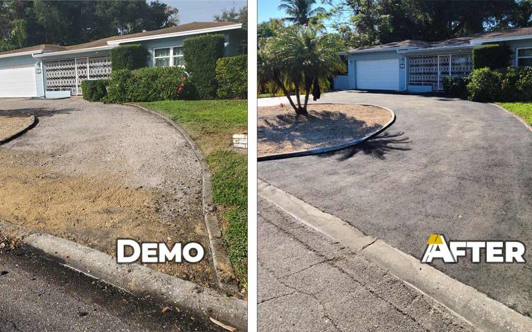 Asphalt Driveway Resurfacing in Pinellas
