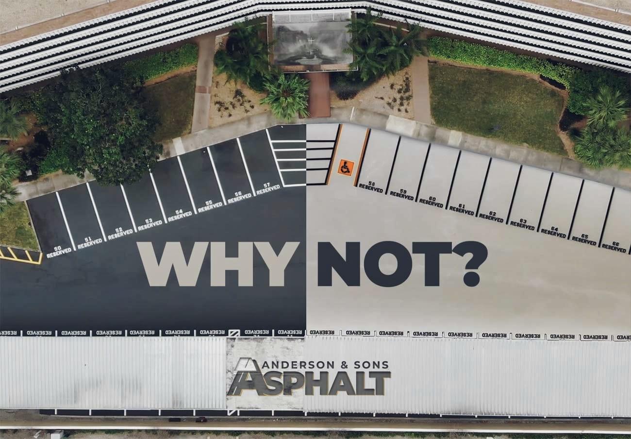 Asphalt Parking Lot Dark vs Light