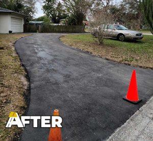 New Asphalt Driveway in Clearwater
