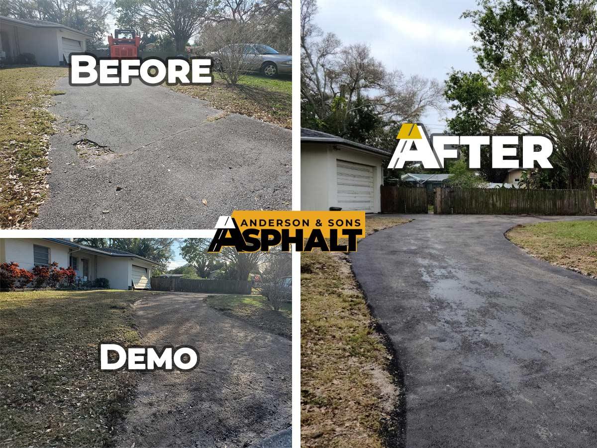 Asphalt Driveway Re-Paving