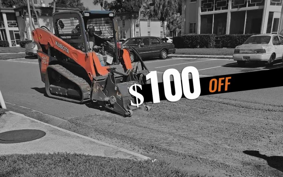 $100 Off Parking Lot Projects