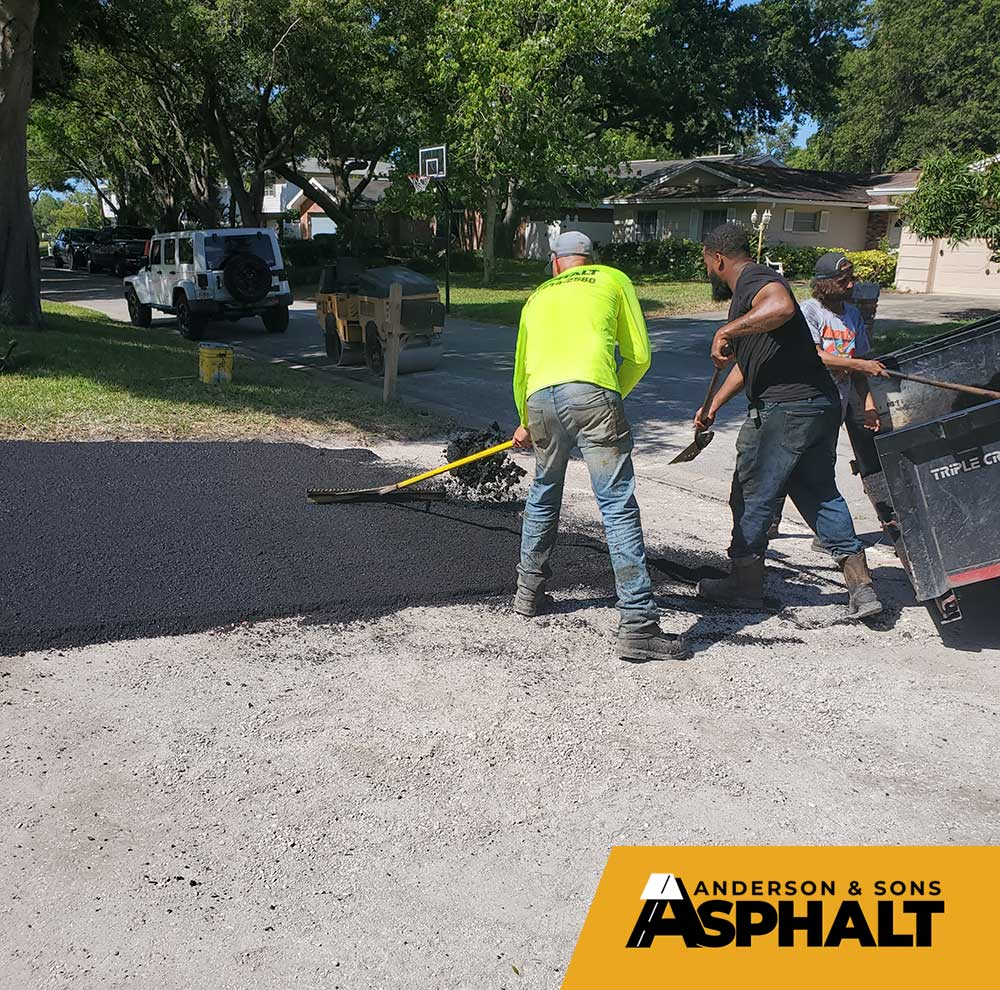 Asphalt Driveway Paving Project in Pinellas County