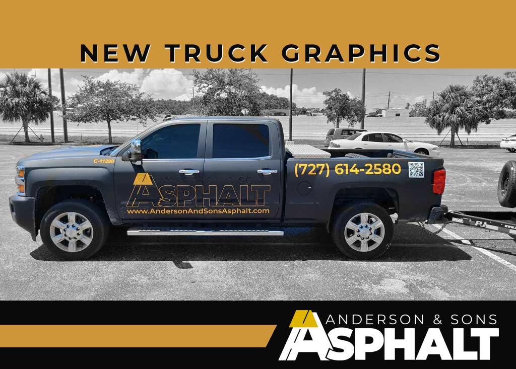 New Graphics on Asphalt Truck
